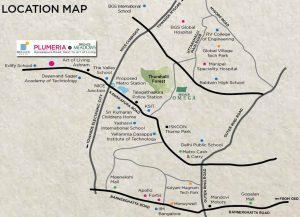 Brigade Plumeria Location Map